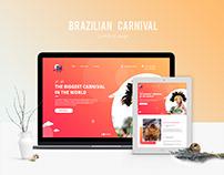 Landing page of Brazilian Carnival