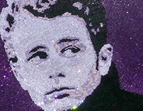 James Dean Swarovski Crystal Portrait