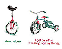 Unicycle/Tricycle Illustration