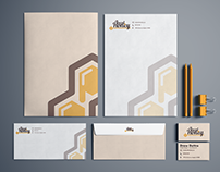 Local Honey Stationary Design