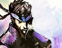 Solid Snake (Watercolor)