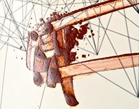Calligraphy on digital artwork 'Fet La'