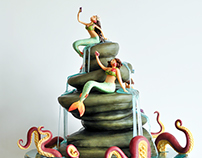 Mermaid Cake for Adobe Photoshop's Collabograms