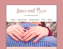 Lance and Bree Wedding Website