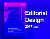 Editorial Design Work 2017