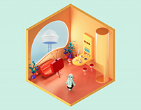 The Jetsons Living Room — The Rooms Project