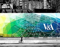 V&A museum construction hoarding (Adobe week)