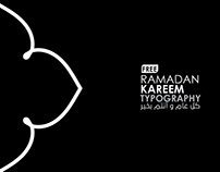 Ramadan kareem free typography
