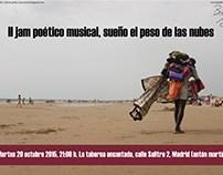 Cartel para jam de poesía y música. 2015.