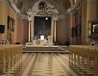 Church - Posadzka i ołtarz kościoła