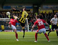 Burton Albion Vs Barnsley 16/4/16 0-0