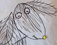 "Pillow ""Drawing Dog"""