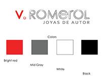 V. Romerol Designer Jewelry / Logo Design