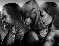 Justice League Character Posters.