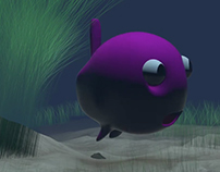 """Fish & Whale in the depths of Ocean """"Animation"""""""