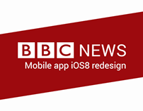 BBC News app redesign for iOS 8