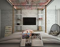 Art-modern bedroom