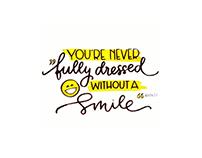 """Lettering """"Smile"""""""