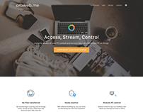 Orbweb.me - Landing Page Rework