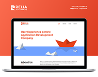 Design Agency Website Redesign - Relia Software