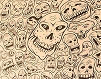 Skulls Calacas Calaveras Flacas