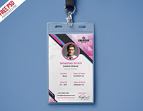 Free PSD : Company Photo Identity Card PSD Template