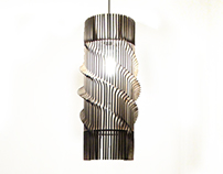 Quadrahelix - Laser Cut Pendant Lamp