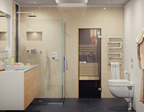 Design, modeling and visualization of the bathroom