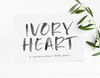 Ivory Heart • Free SVG Font
