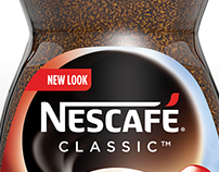 3D hyper realistic image of the new Nescafé container