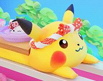 Tamago Cat vs Pikachu Animation