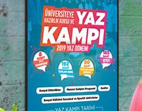 Üniversiteye Hazırlık Kursu ve YAZ KAMPI Afiş Tasarımı