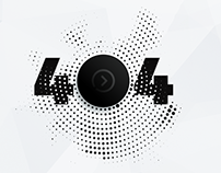 Unique UX 404 page with music