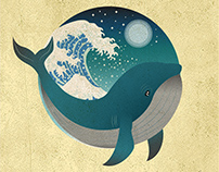 Whale and Moon
