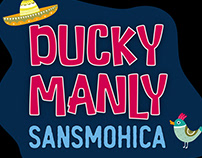 Ducky Manly Font Duo