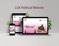 "LUX ""Political"" Website"