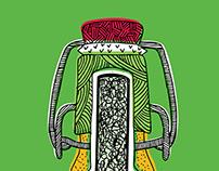 Grolsch: Illustrated bottle