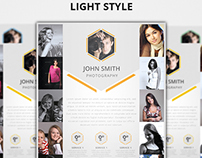 Modern Light & Dark Photography Flyers Template
