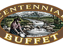 Centennial Buffet Logo Illustrated by Steven Noble