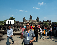 Tourists in Angkor