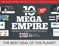 MEGA EMPIRE Powerpoint Template Bundle