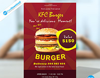 Burger Flyer Psd Free Template