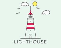 Line Art Lighthouse