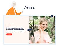 Online-portfolio of smm-specialist