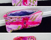 Dyed Fabric Zipper Pouch