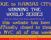 Website closed to New York!