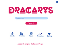 Dracarys Search engine UI concept.