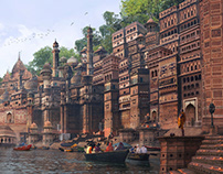 Varanasi Matte painting From reference