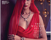 The Red Woman with Bulgari Jewels Shot in Krabi