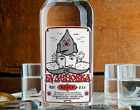 Budenovka russian national vodka